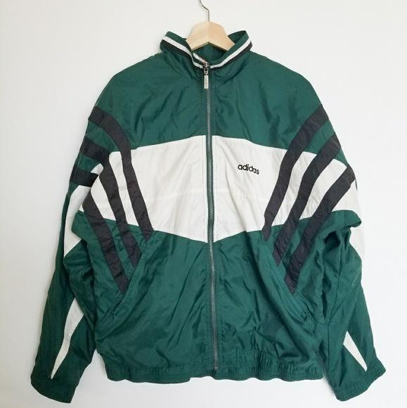 Vintage Green Adidas Windbreaker